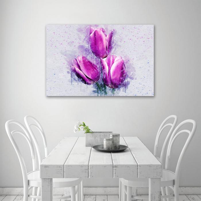 Tablou Canvas -Lalele violet 3