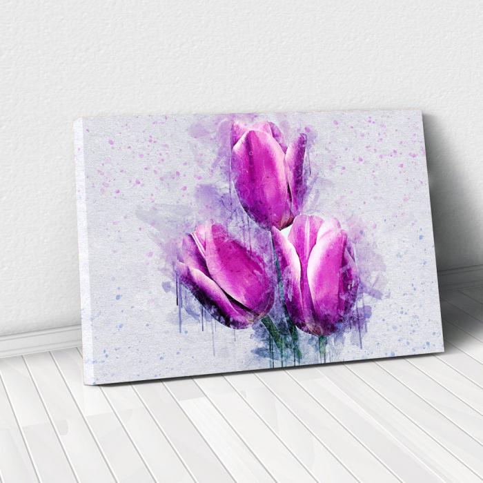 Tablou Canvas -Lalele violet 0