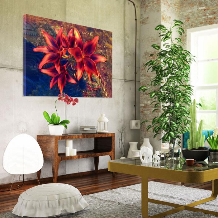 Tablou Canvas - Crini rosii [1]
