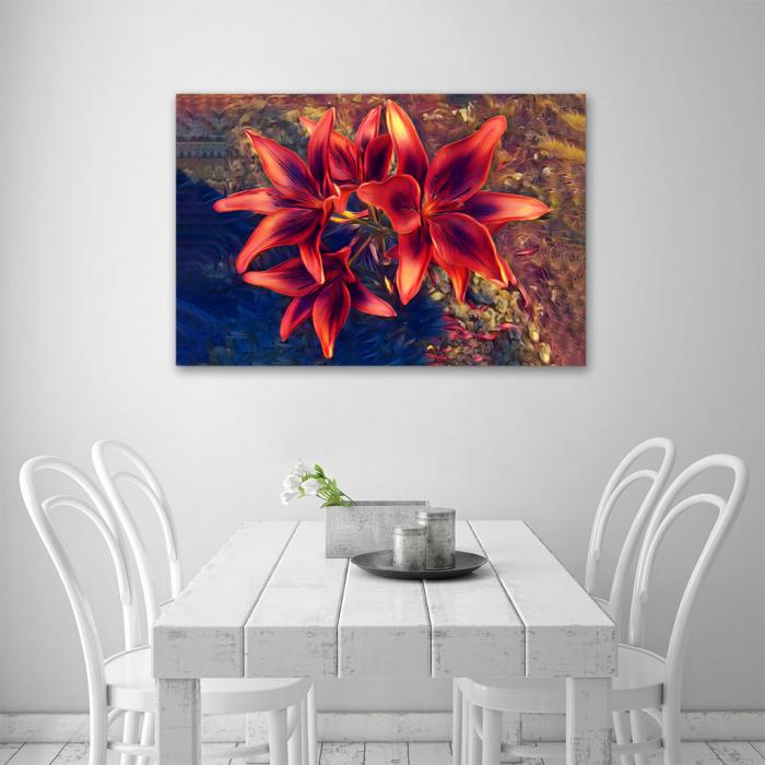 Tablou Canvas - Crini rosii [3]