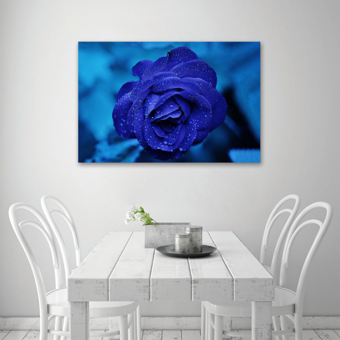 Tablou Canvas -Trandafir Albastru 3