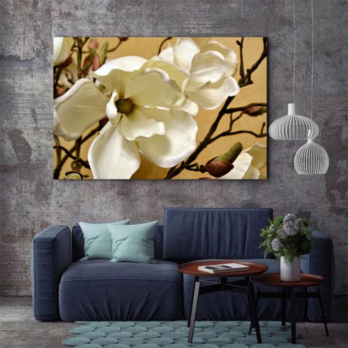 Tablou Canvas - Floare alba 3