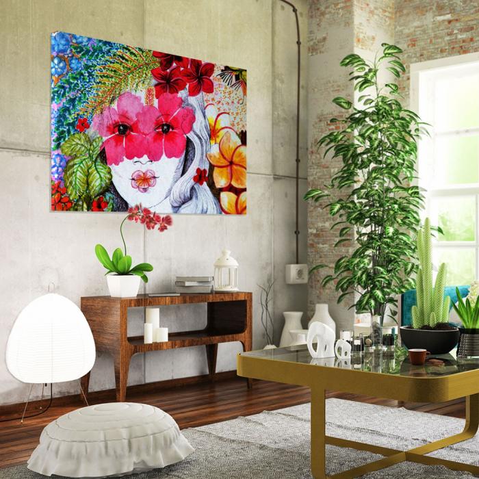 Tablou Canvas - Portret floral 1