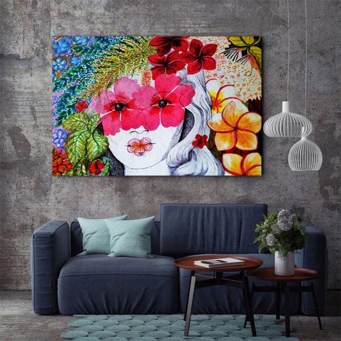 Tablou Canvas - Portret floral 3