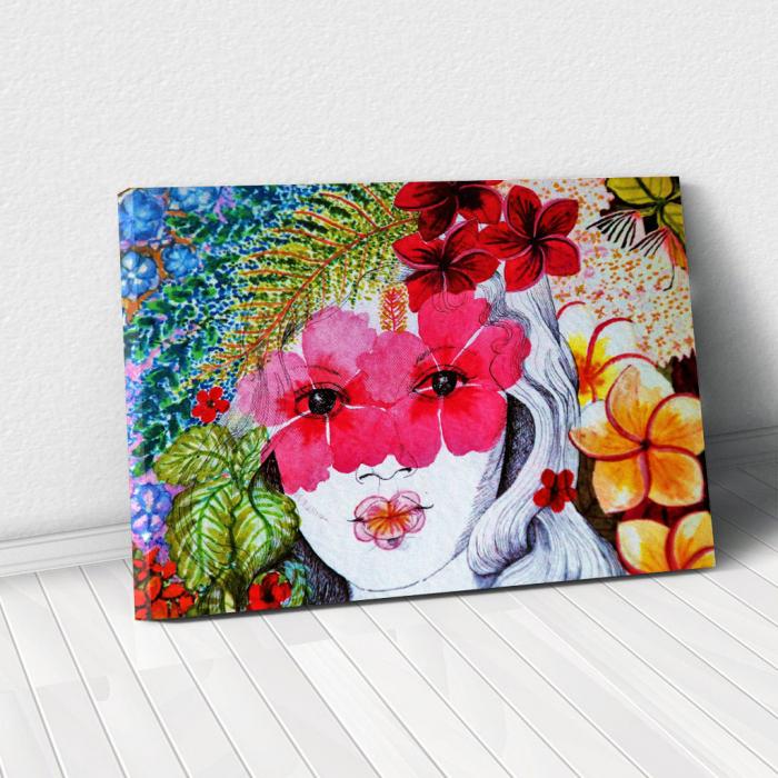 Tablou Canvas - Portret floral 0
