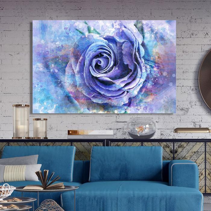 Tablou Canvas - Trandafir de gheata 2