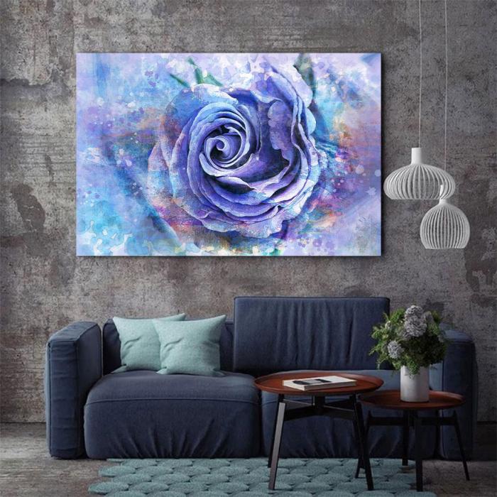 Tablou Canvas - Trandafir de gheata 3