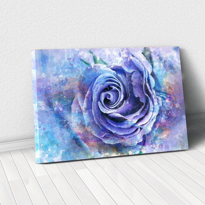 Tablou Canvas - Trandafir de gheata 0