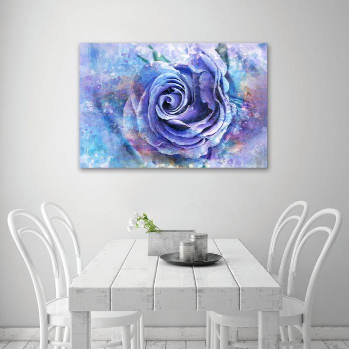 Tablou Canvas - Trandafir de gheata 4