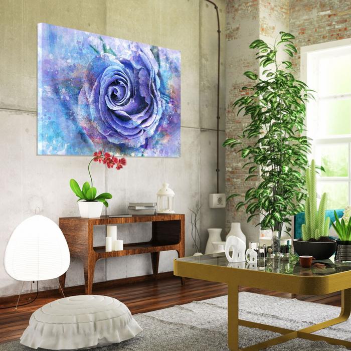 Tablou Canvas - Trandafir de gheata 1