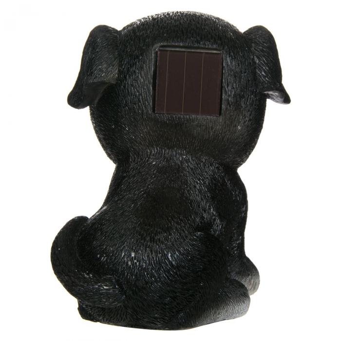 Lampă solară câine, negru,15 cm [2]