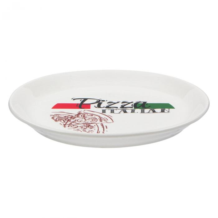 Farfurie pentru pizza,cu model și scris,20 cm 1