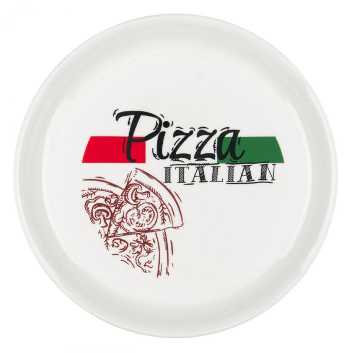 Farfurie pentru pizza,cu model și scris,20 cm 0