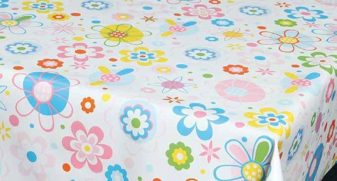 Față de masă, model floral, pvc, multicolor, lățime 140 cm 0