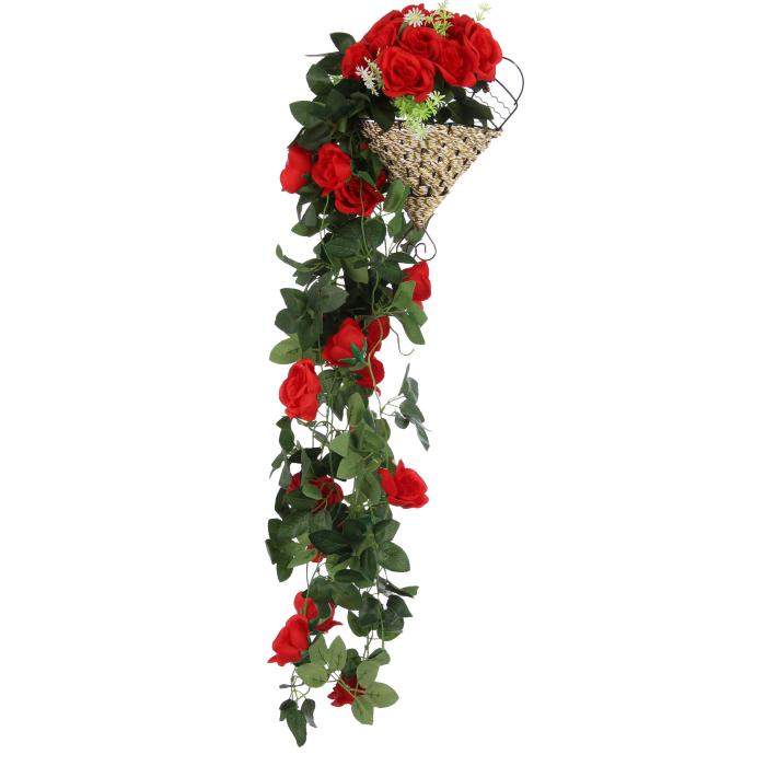 Floare artificială, roșu, 90 cm 0