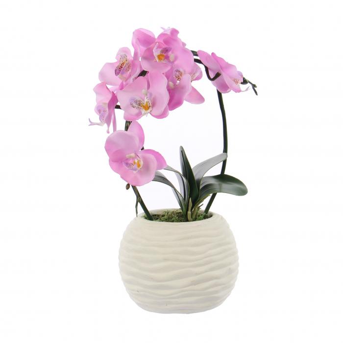 Floare artificială, orhidee roz, 38 cm [0]