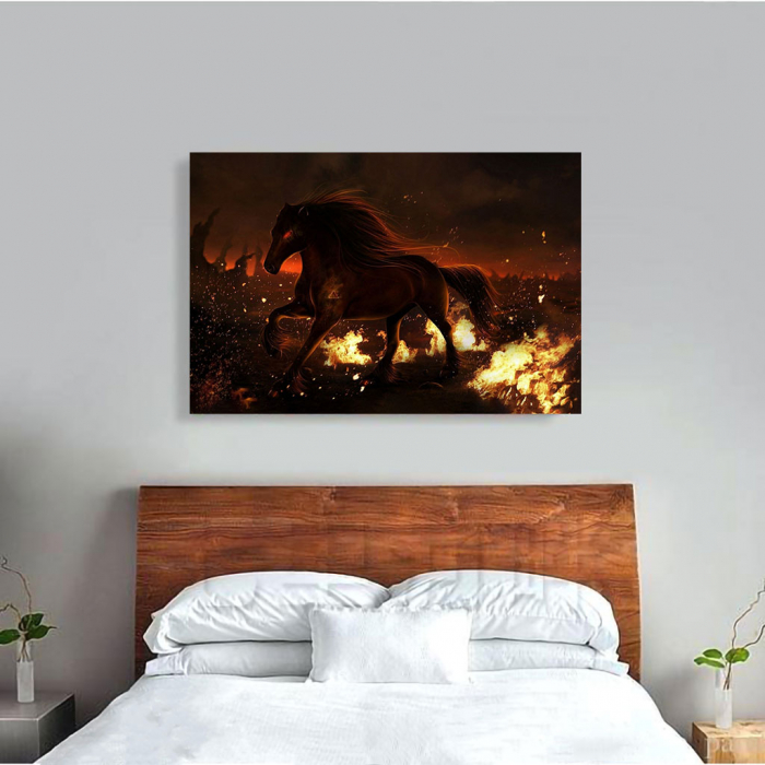 Tablou Canvas - Hell horse 1