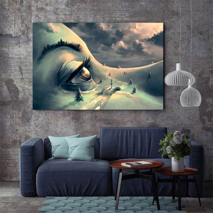 Tablou Canvas - World's face 2