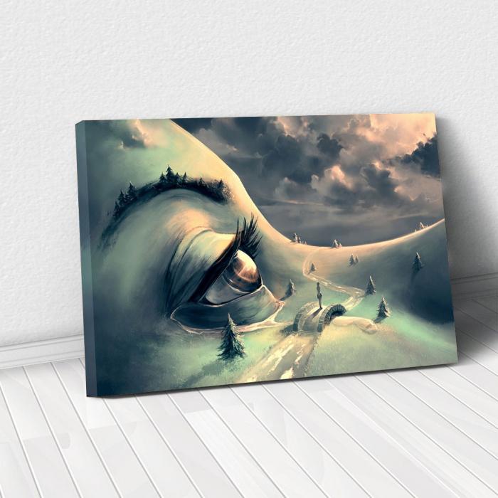 Tablou Canvas - World's face 0