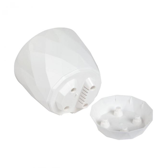 Ghiveci alb Evoque,plastic-17,5x15,3 cm 1
