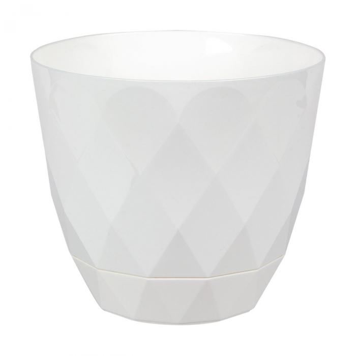 Ghiveci alb Evoque,plastic-17,5x15,3 cm 0