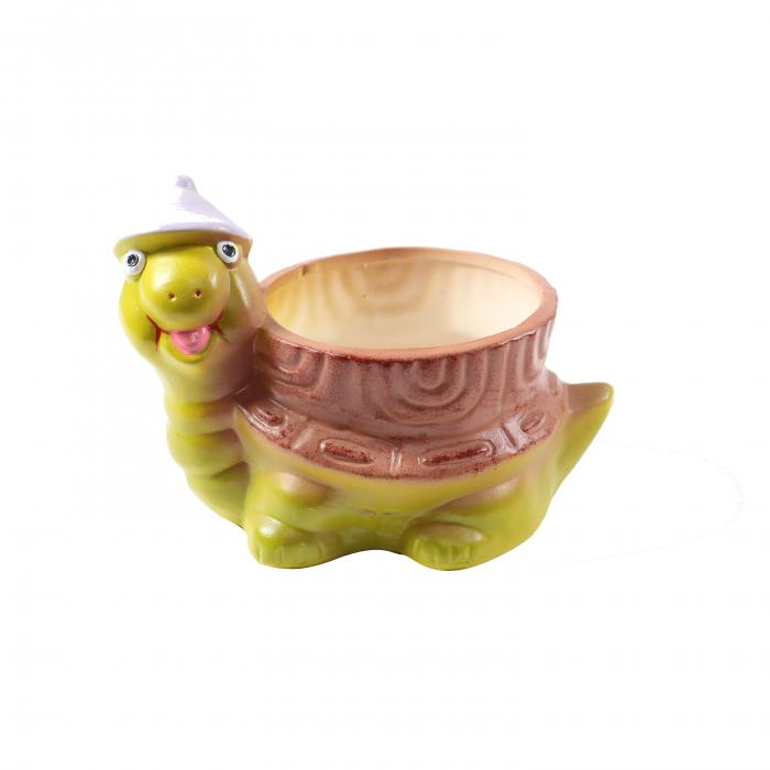 Ghiveci ceramic broască-16 cm 0