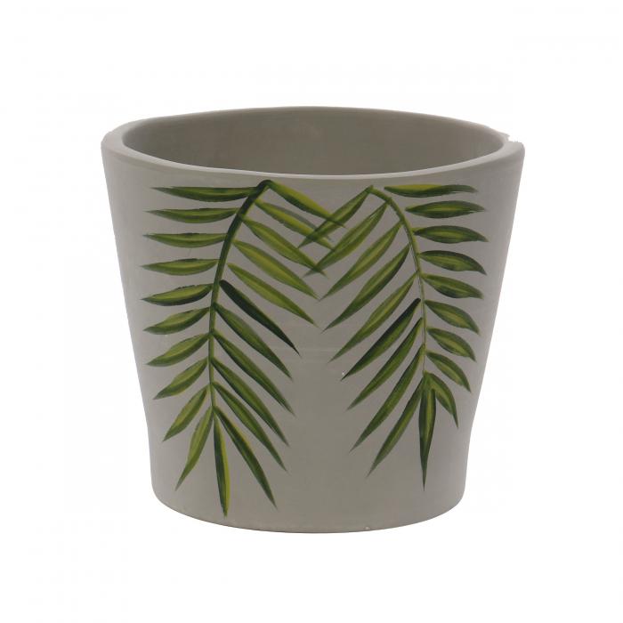 Ghiveci ceramic, gri, 18 x 16 cm [0]