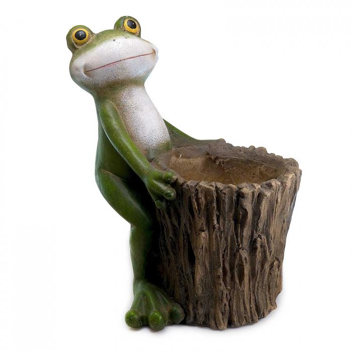 Ghiveci decorativ broască,ceramică, 32.2 x 24.5 x 39 cm [0]
