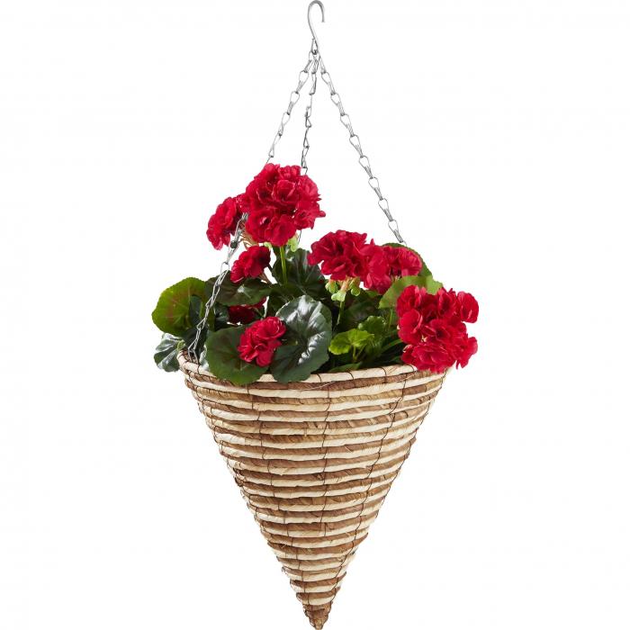 Ghiveci de grădină, crem, suspendat pentru flori & plante,D 30 cm [0]