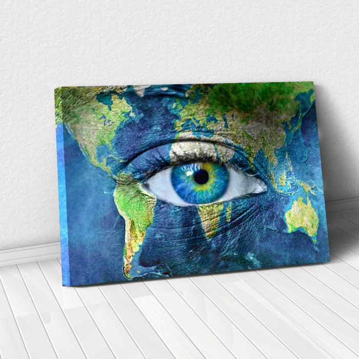 Tablou Canvas - Eye of the map 0
