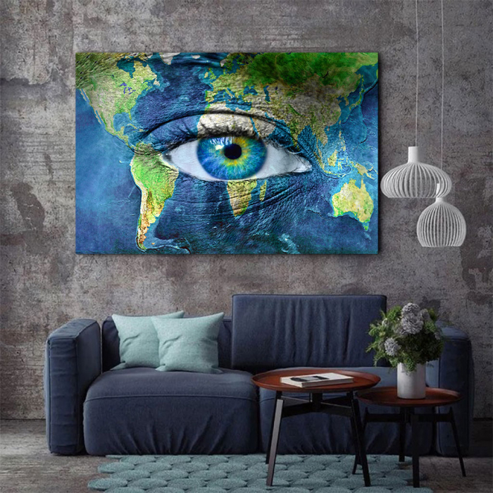 Tablou Canvas - Eye of the map 2