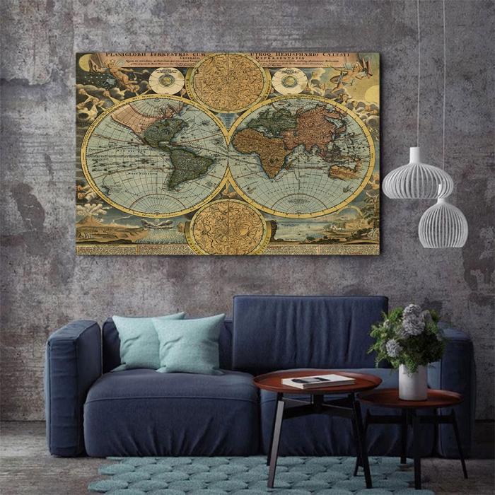 Tablou Canvas - Vintage Map 1716 1