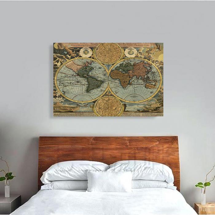 Tablou Canvas - Vintage Map 1716 2