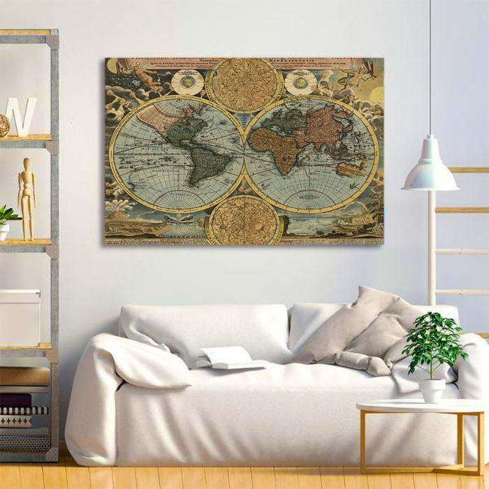 Tablou Canvas - Vintage Map 1716 3