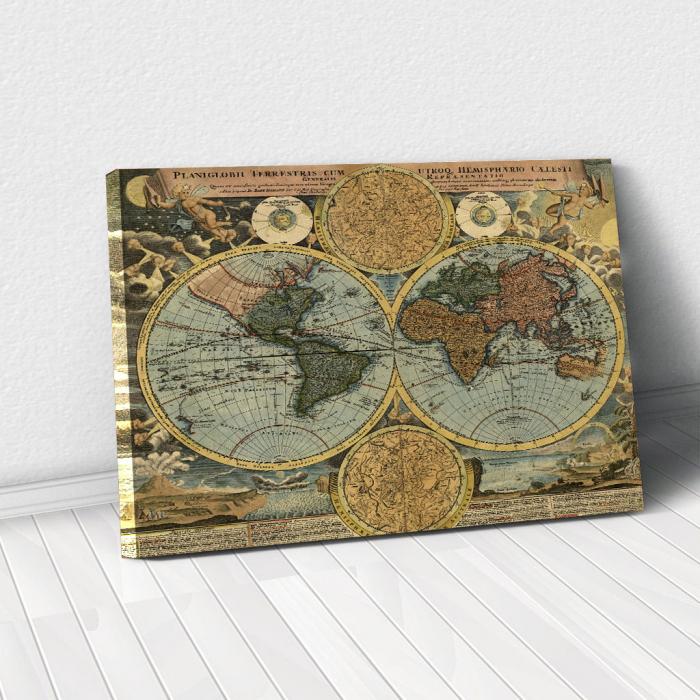 Tablou Canvas - Vintage Map 1716 0