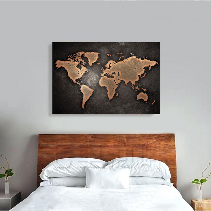 Tablou Canvas - World map 1