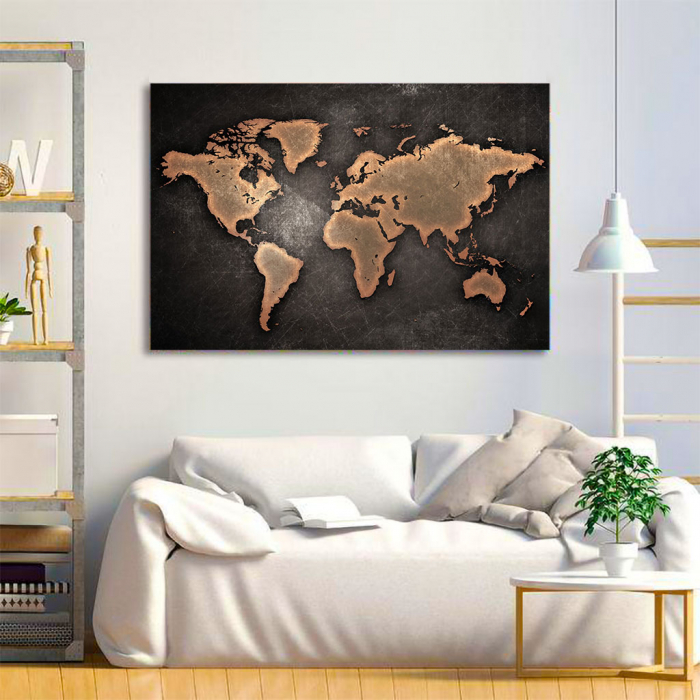 Tablou Canvas - World map 3