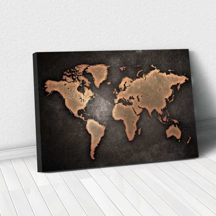 Tablou Canvas - World map 0