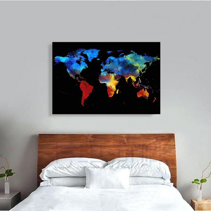 Tablou Canvas - Harta colorful 1