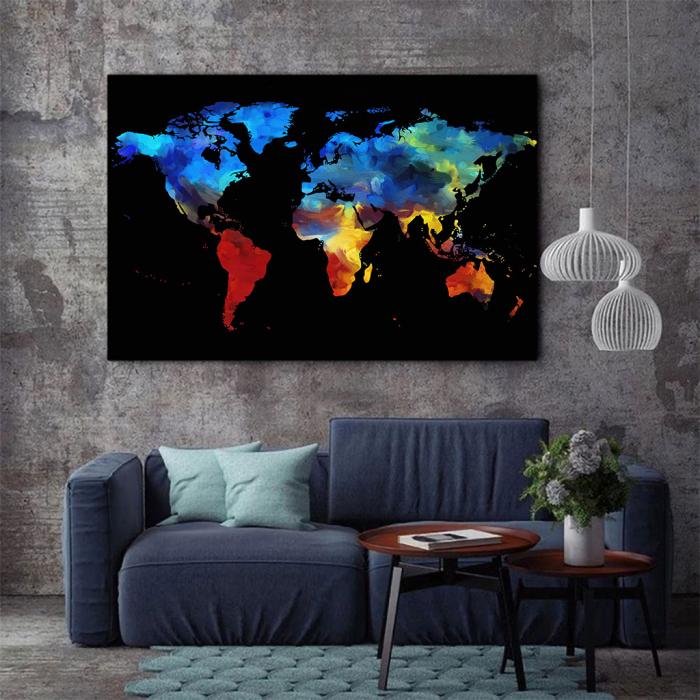 Tablou Canvas - Harta colorful 2