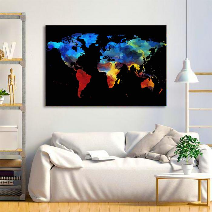 Tablou Canvas - Harta colorful 3