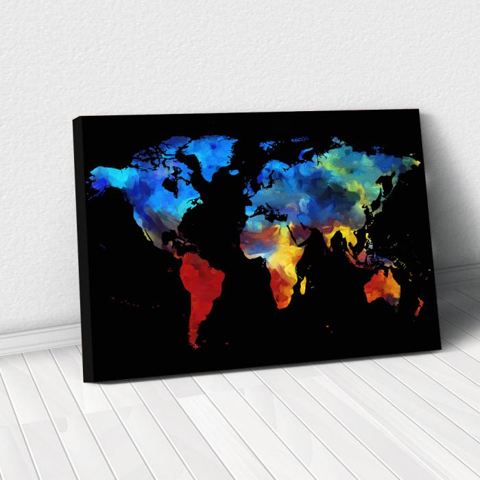 Tablou Canvas - Harta colorful 0