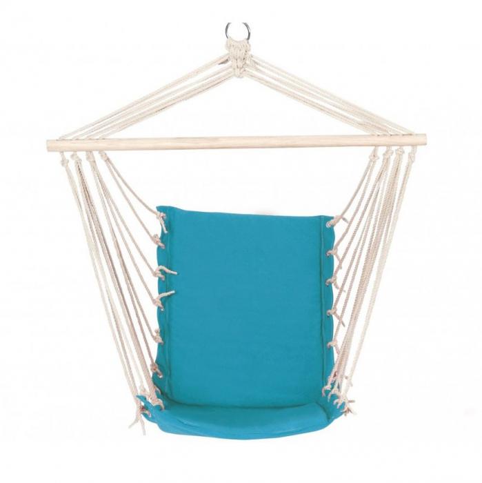 Hamac tip scaun,cu bară din lemn 0