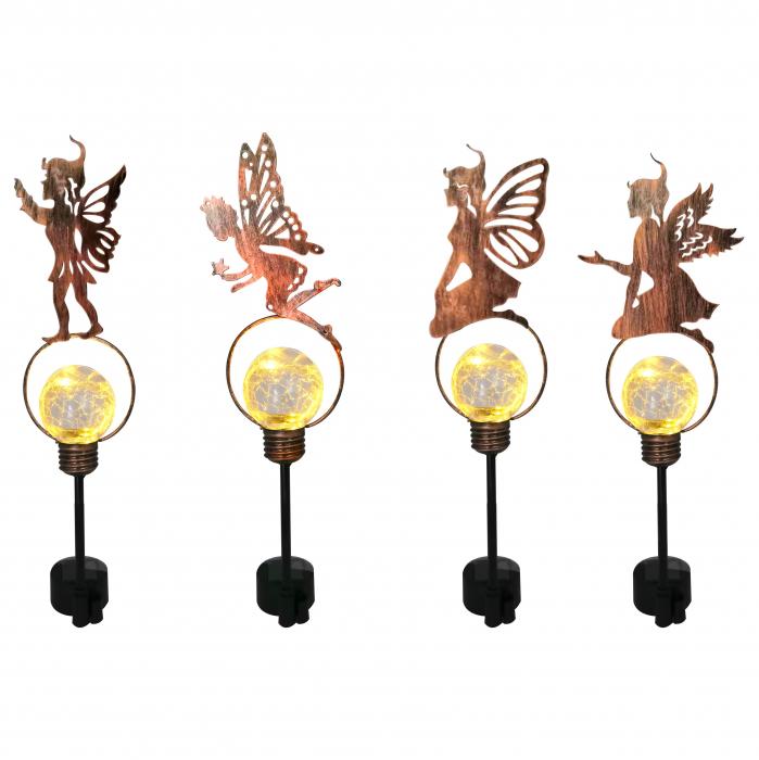 Lampă solară cu figurină metalică-diverse modele [0]