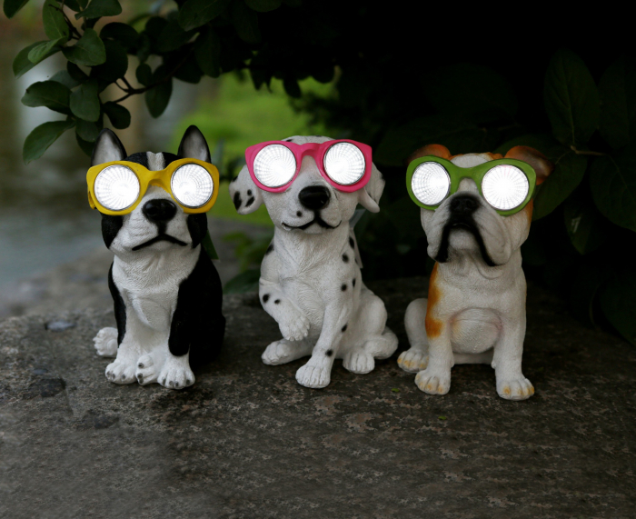 Lampă solară LED câine 20 cm 0