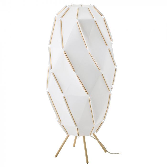Lampadar Hera, bază din lemn, alb - 1m 0