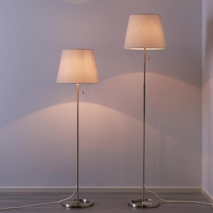 Lampadar reglabil, alb, oțel - 168cm 2