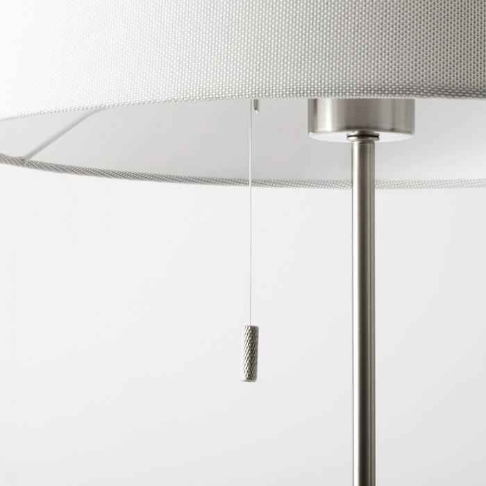 Lampadar reglabil, alb, oțel - 168cm 3