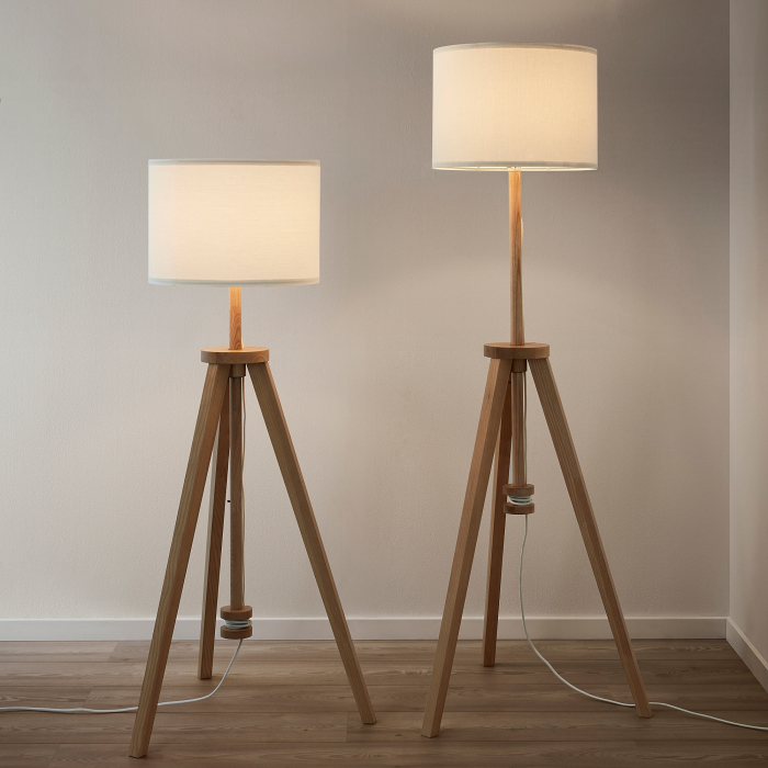 Lampadar Cora din lemn, reglabil - 151cm [2]