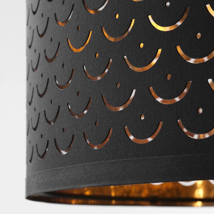Lampadar Majestic cu abrajur perforat, maro - 163cm 2